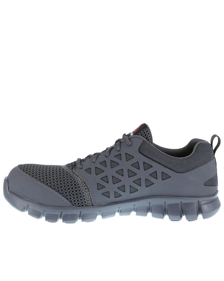 Reebok Men's Grey Sublite Work Shoes - Composite Toe, Grey, hi-res