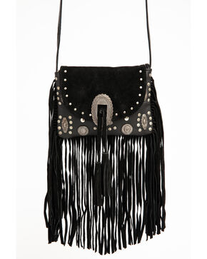 Idyllwind Women's Perfectly Imperfect Fringe Crossbody, Black, hi-res
