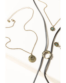 Shyanne Women's Gilded Gold Layered Bolo Set, Gold, hi-res