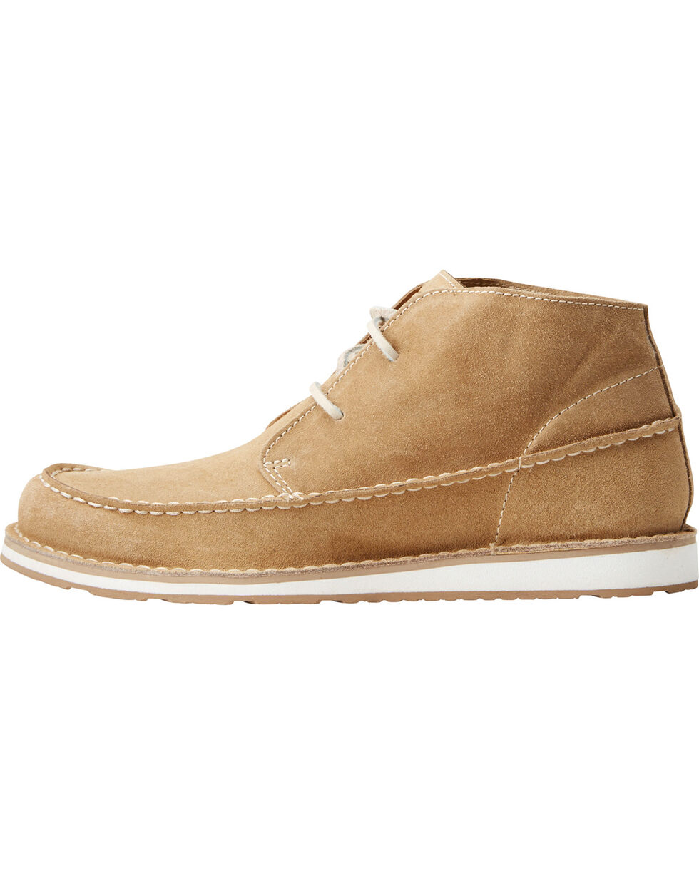 Ariat Women's Lace-Up Cruiser Chukkas - Moc Toe, Taupe, hi-res
