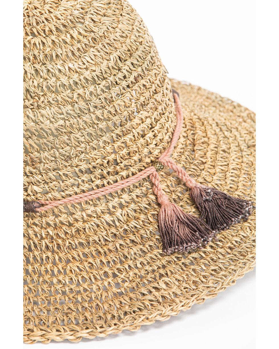 ále by Alessandra Women's Callie Cotton Tassel Crochet Seagrass Hat, Natural, hi-res