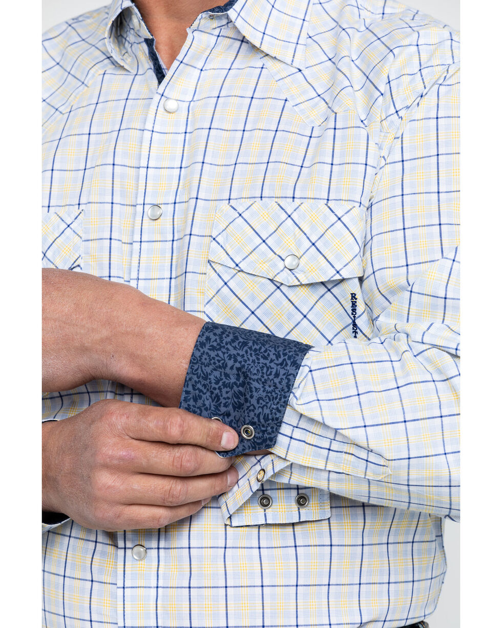 Resistol Men's American Med Plaid Long Sleeve Western Shirt , White, hi-res