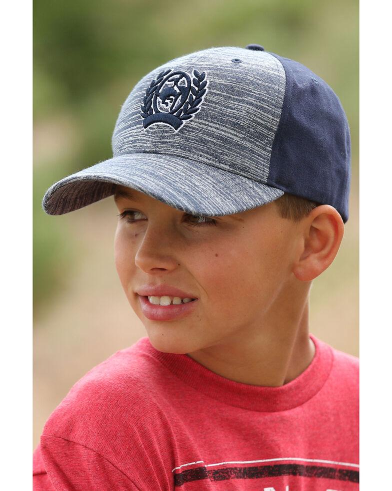 Cinch Boys' Navy Twill Baseball Cap , Navy, hi-res
