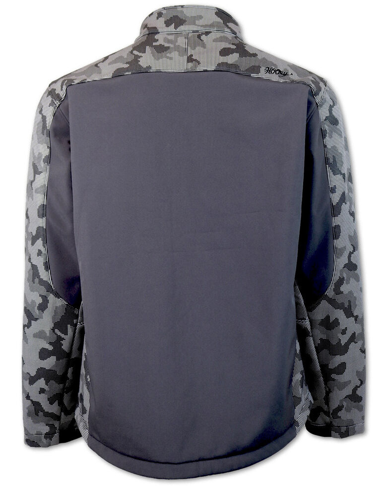 HOOey Boys' Grey Camo Color-Block Soft-Shell Jacket , Grey, hi-res