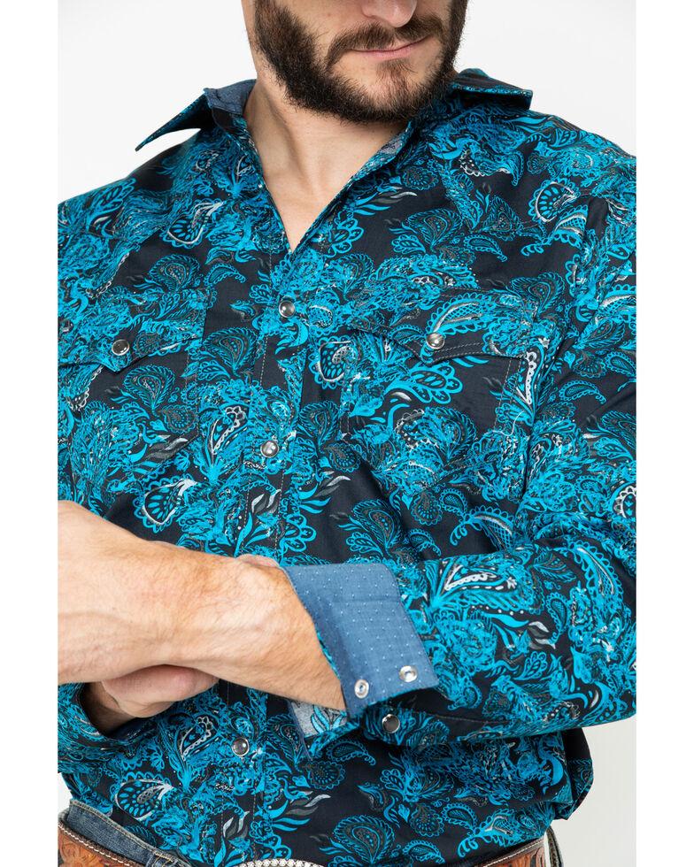 Cody James Men's El Matador Paisley Print Long Sleeve Western Shirt - Big , Black, hi-res