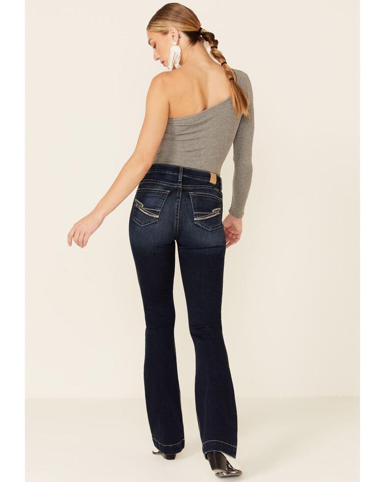 Sailey Women's Dark Wash Bootcut Jeans, Blue, hi-res