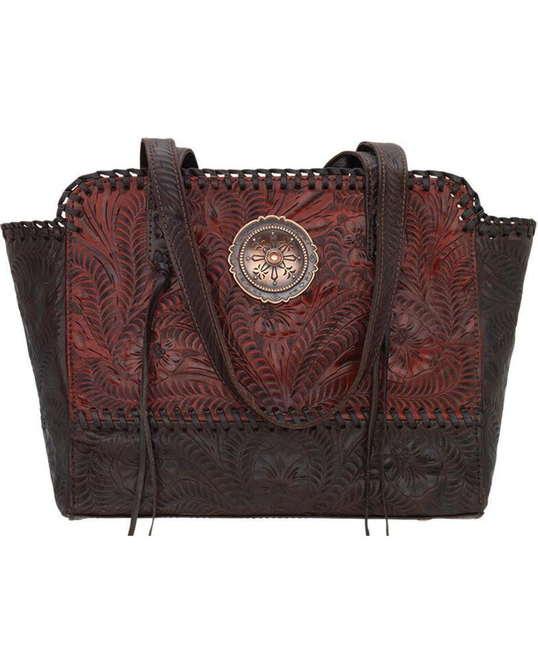 American West Women's Copper Annie's Concealed Carry Tote , Red, hi-res