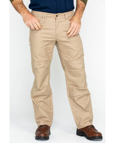 Hawx Men's Stretch Canvas Utility Work Pants , Beige/khaki, hi-res