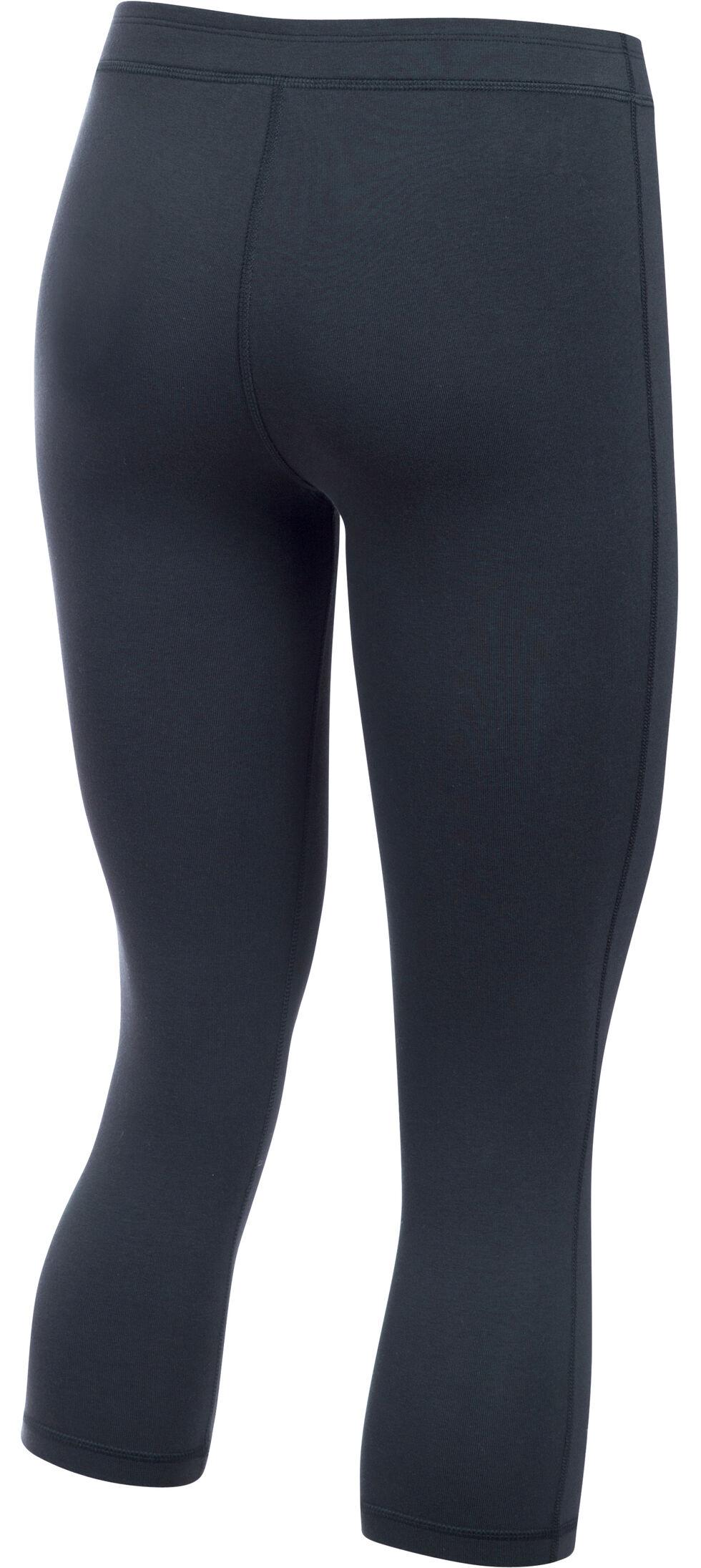 Under Armour Women's Black HeatGear® Training Capris, Black, hi-res