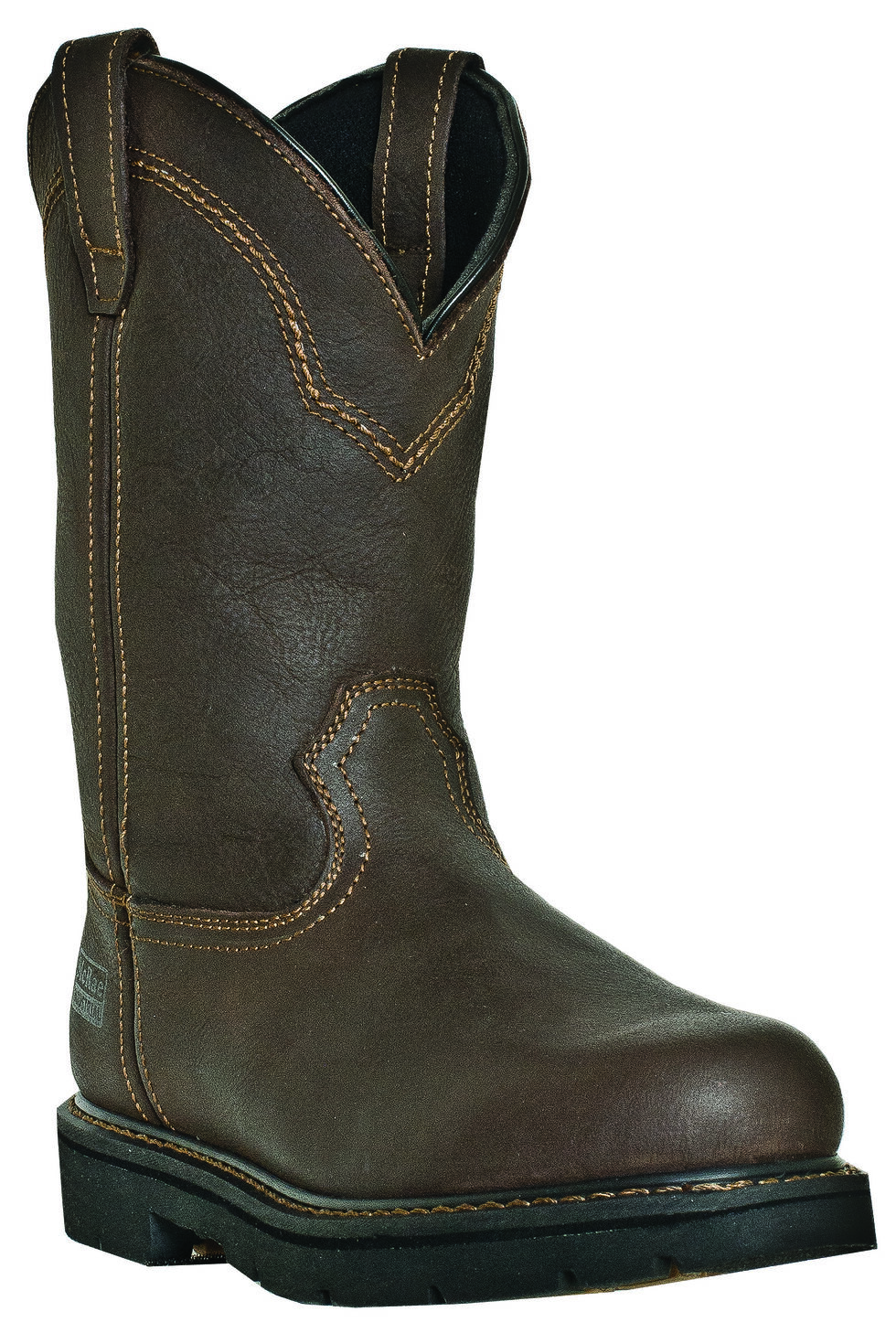 McRae Men's Pull-On Work Boots - Steel Toe, Brown, hi-res