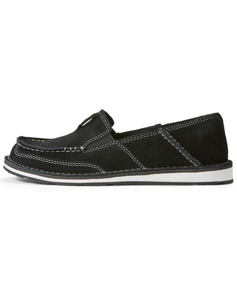 Ariat Women's Suede Cruiser Slip-On Shoes - Moc Toe, Black, hi-res
