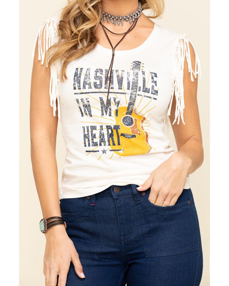 Idyllwind Women's Nashville In My Heart Fringe Tank, Cream, hi-res