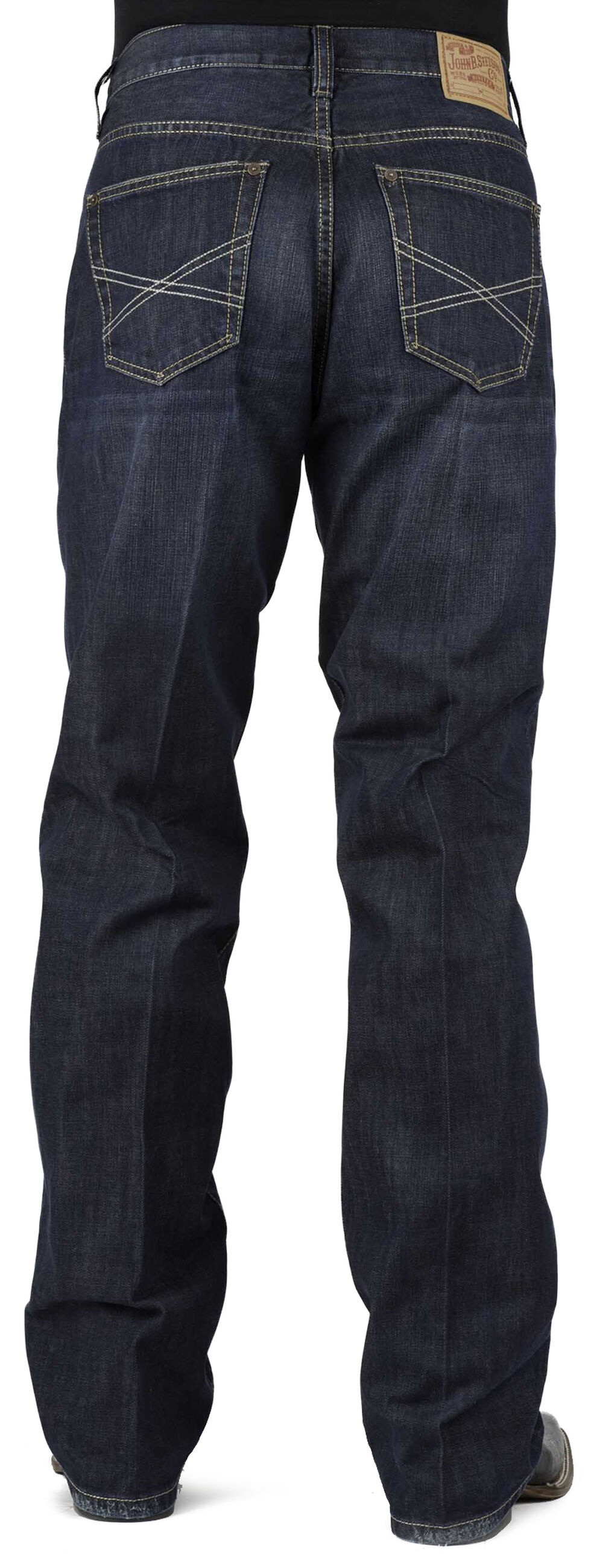 Stetson 1312 Relaxed Fit Jeans with Flag Detail - Boot Cut, Denim, hi-res