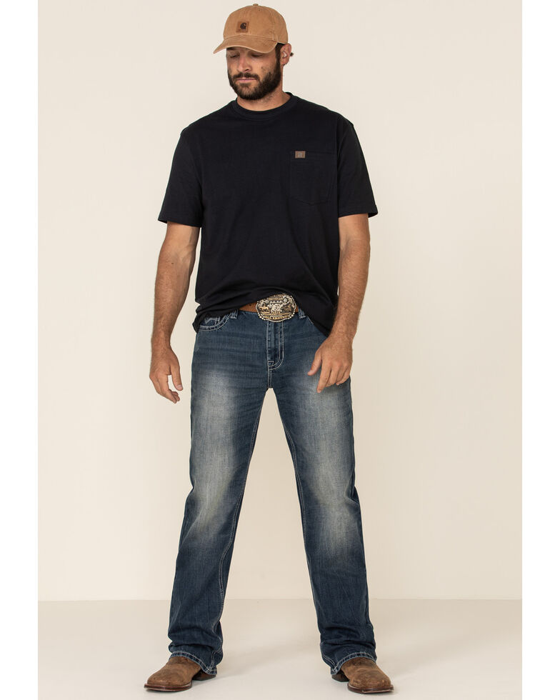 Rock & Roll Denim Men's Double Barrel Relaxed Straight Jeans , Blue, hi-res