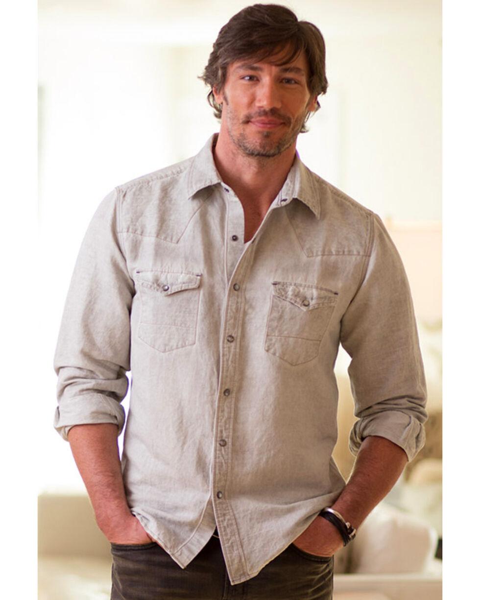 Ryan Michael Men's Patina Pigment Shirt , Grey, hi-res