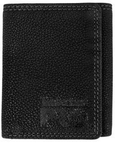 Timberland Men's Black Bullard Trifold Leather Wallet, Black, hi-res