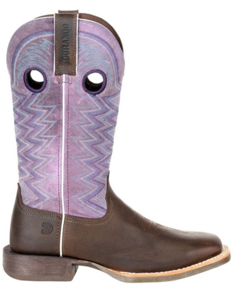 Durango Women's Lady Rebel Amethyst Western Boots - Square Toe, Brown, hi-res