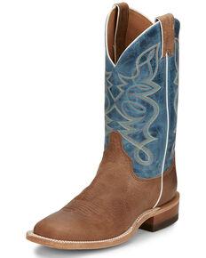 Justin Women's Moore Mocha Western Boots - Wide Square Toe, Tan, hi-res