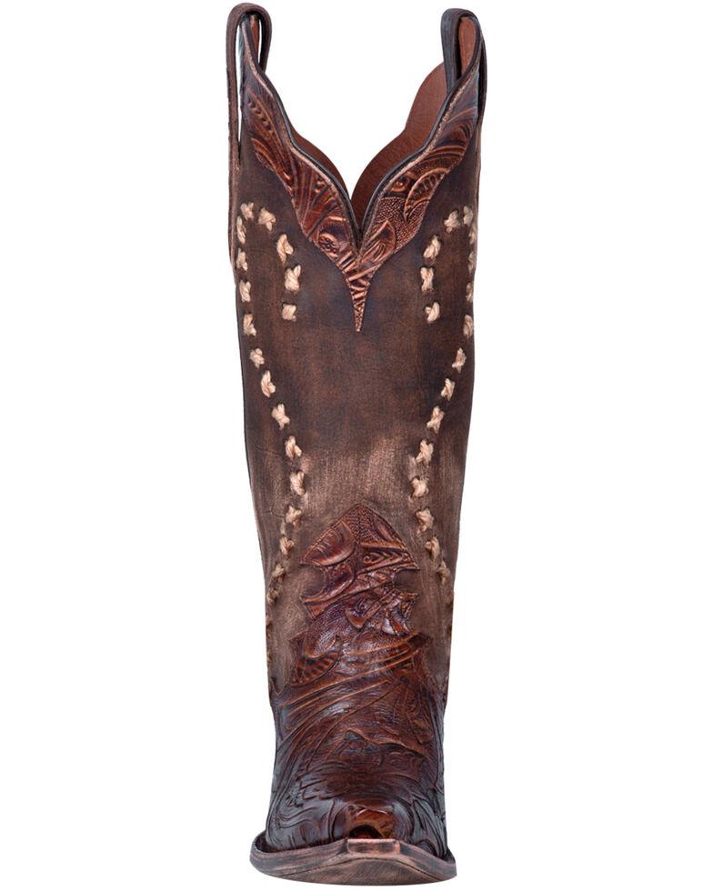 Dan Post Women's Nikola Western Boots - Snip Toe, Brown, hi-res