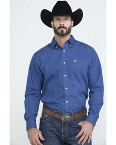 Ariat Men's Wrinkle Free Parton Geo Print Long Sleeve Western Shirt , Multi, hi-res