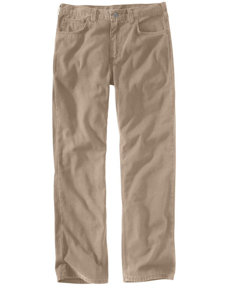 Carhartt Men's Rugged Flex Rigby Five-Pocket Jeans, Tan, hi-res