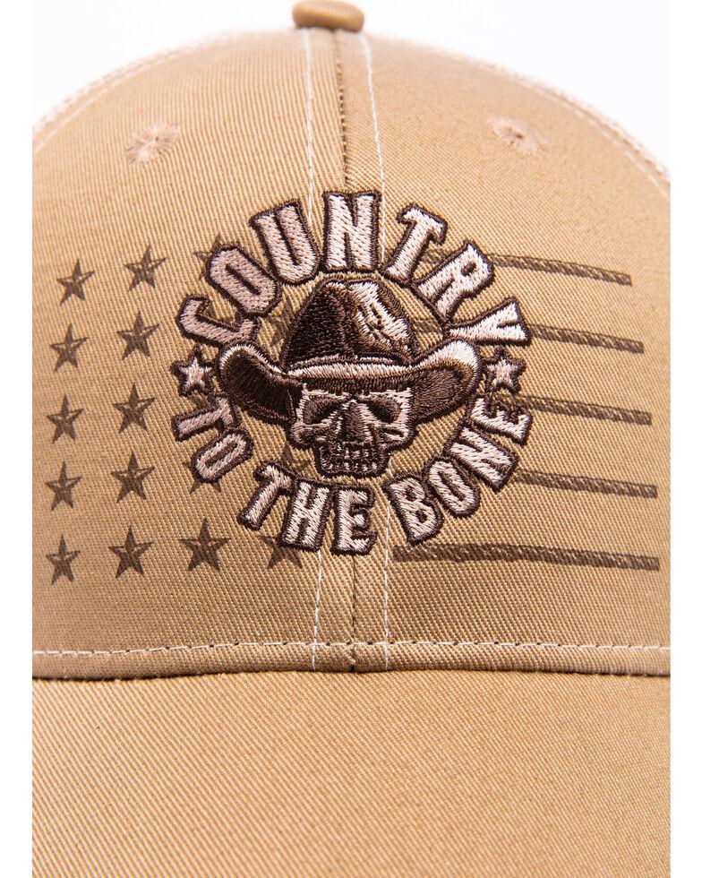 Cody James Men's Country To The Bone Trucker Cap, Tan, hi-res