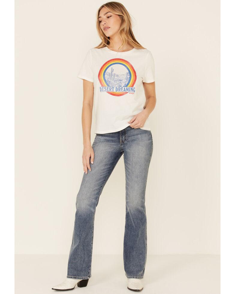 Wrangler Modern Women's Desert Dreaming Rainbow Graphic Short Sleeve Tee , White, hi-res