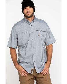 Ariat Men's Grey Rebar Made Tough Durastretch Vent Short Sleeve Work Shirt - Big , Heather Grey, hi-res