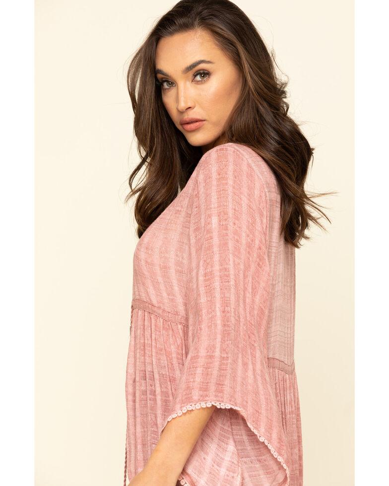 Ariat Women's Pink Clam Kimono, Pink, hi-res