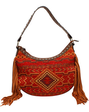Blazin Roxx Women's Indian Blanket Shoulder Bag, Multi, hi-res