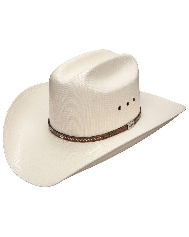 Resistol Men's George Strait Hamilton 10X Shantung Straw Cowboy Hat, Natural, hi-res