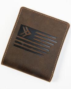 Hawx Men's Brown Flag Bifold Wallet, Brown, hi-res