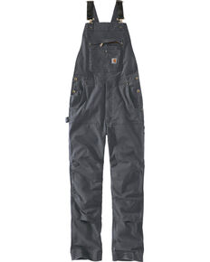 Carhartt Men's Rugged Flex Rigby Bib Overalls, Grey, hi-res