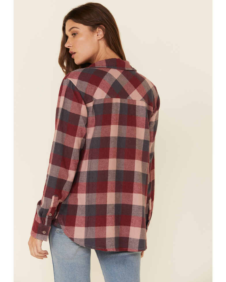 United By Blue Women's Sliver Pink Responsible Flannel Long Sleeve Western Shirt , Pink, hi-res
