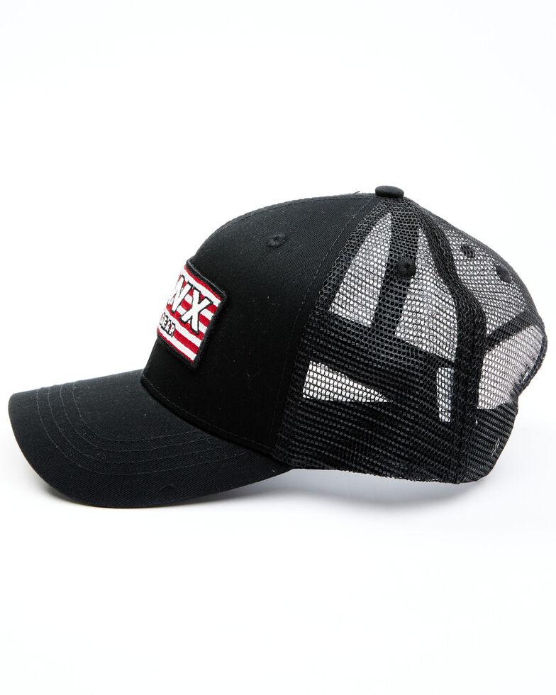 Hawx Men's American Flag Patch Mesh-Back Ball Cap , Black, hi-res