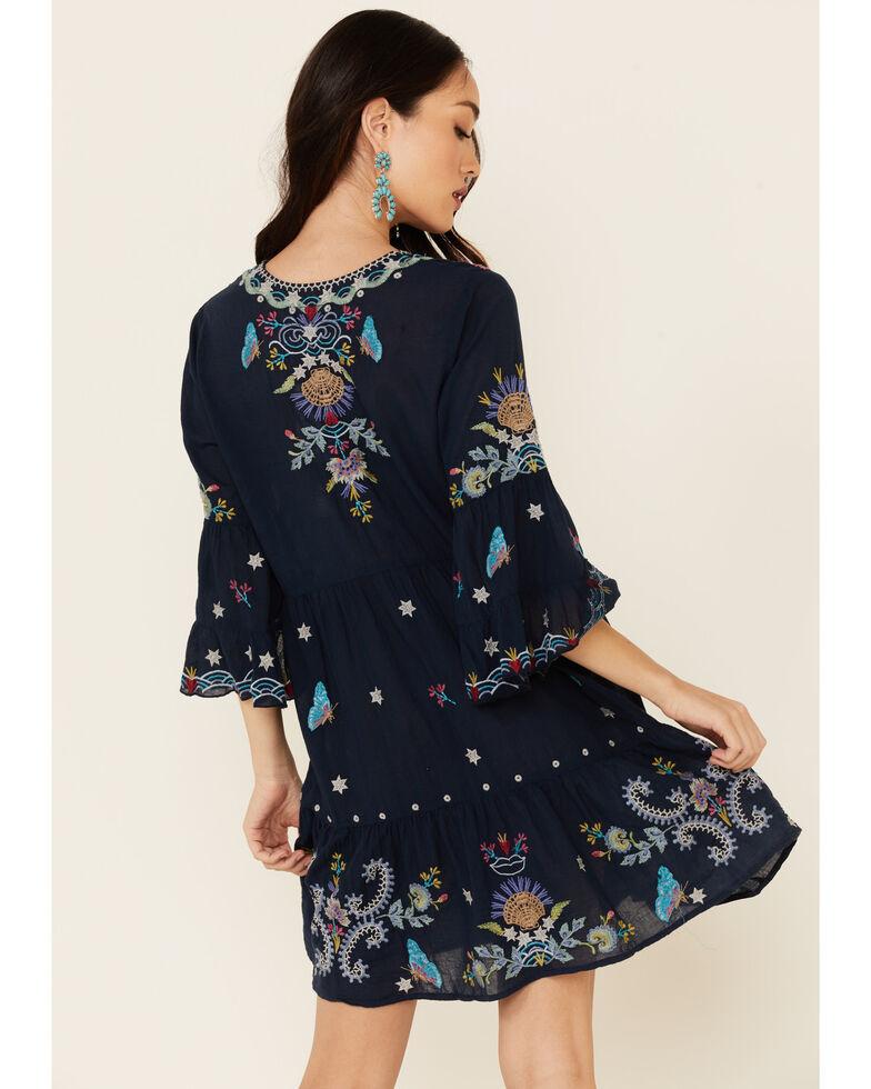 Johnny Was Women's Arzella Tiered Dress, Blue, hi-res