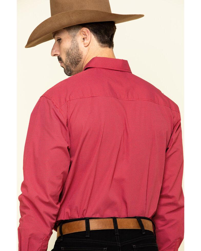 Cinch Men's Modern Fit Red Geo Print Long Sleeve Western Shirt , Red, hi-res