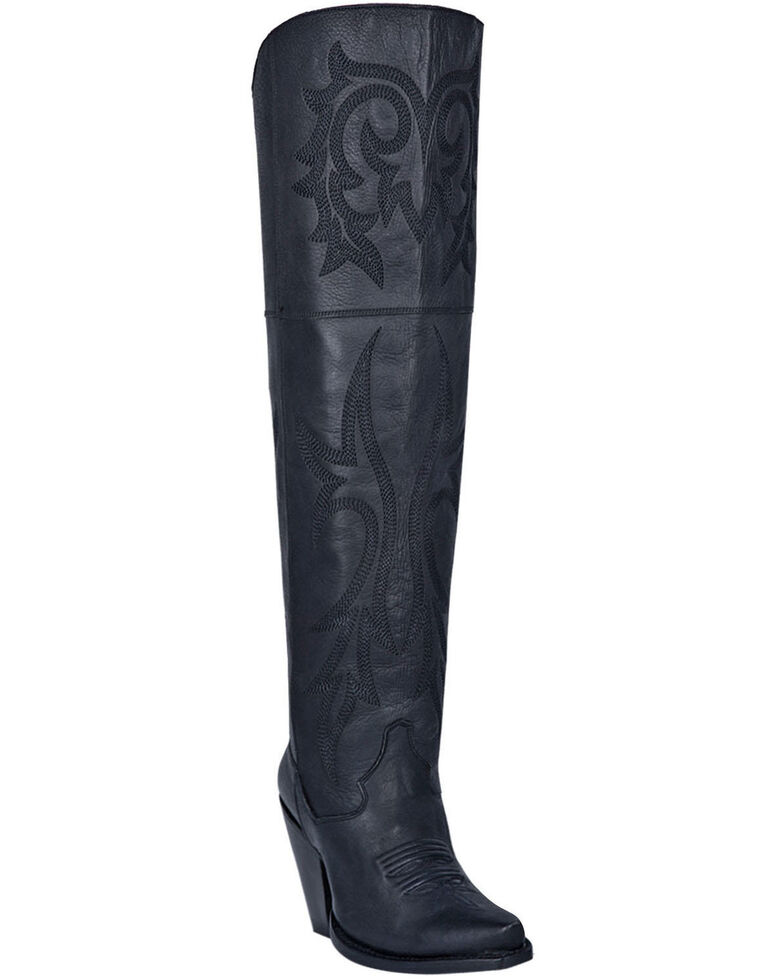 Dan Post Women's Jilted Fashion Western Boots - Snip Toe, Black, hi-res