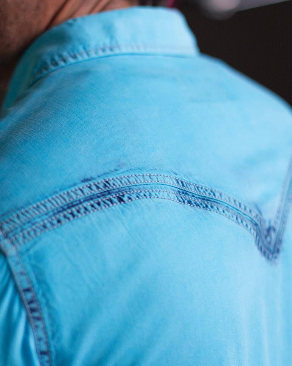 Ryan Michael Men's Oasis Neon Bleached Shirt , Light Blue, hi-res