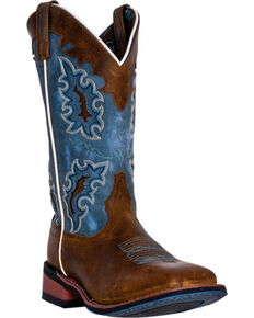 Laredo Women's Isla Cowgirl Boots - Square Toe, Tan, hi-res