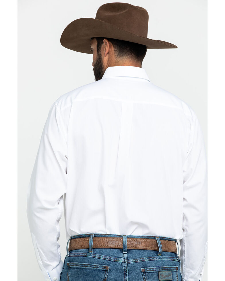 Ariat Men's White Winkle Free Button Down Long Sleeve Western Shirt , White, hi-res