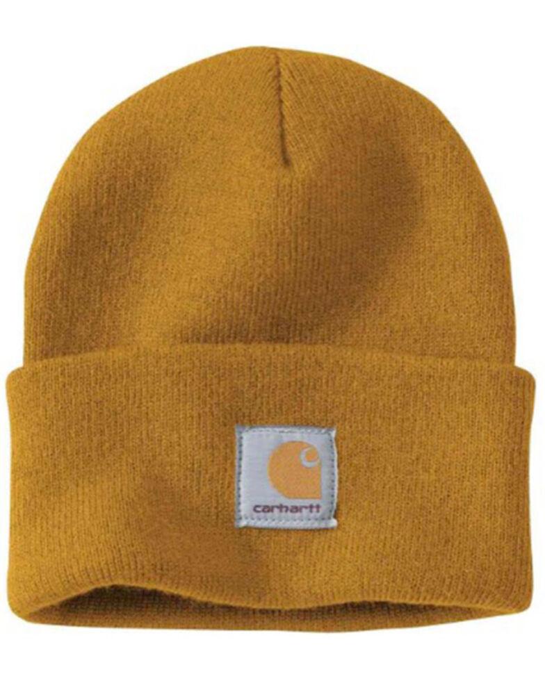 Carhartt Men's Carhartt Brown Watch Hat, Gold, hi-res