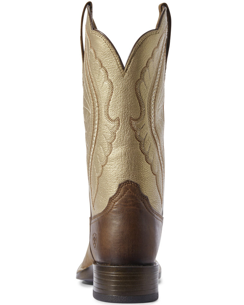 Ariat Women's Primetime Sassy Western Boots - Wide Square Toe, Brown, hi-res