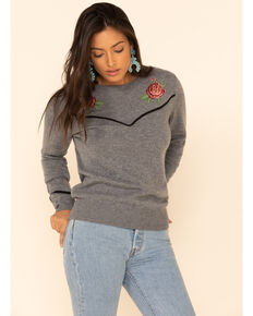 Ariat Women's Sharp Shooter Sweater, Grey, hi-res