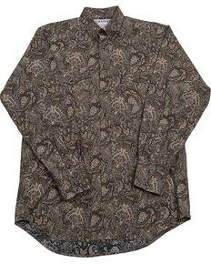 Schaefer Outfitter Men's Black Frontier Paisley Western Snap Shirt - Big & Tall, Black, hi-res