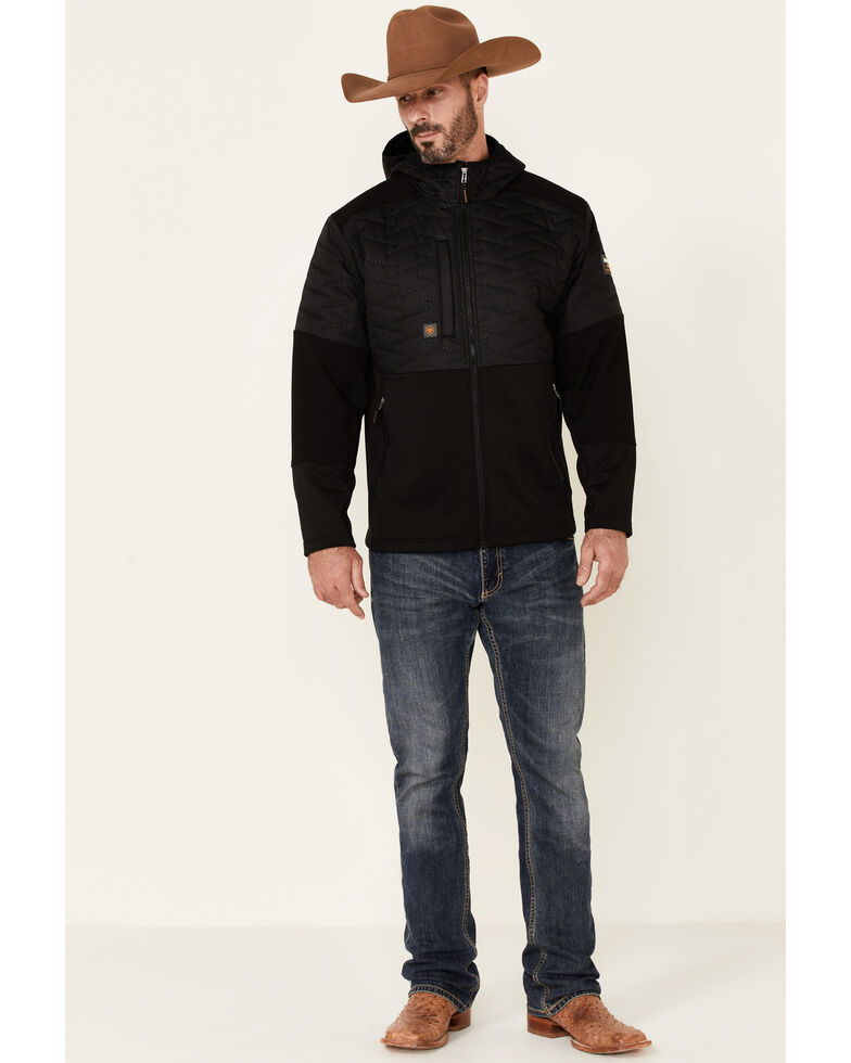 Ariat Men's Rebar Black Cloud 9 Insulated Zip-Front Work Jacket , Black, hi-res