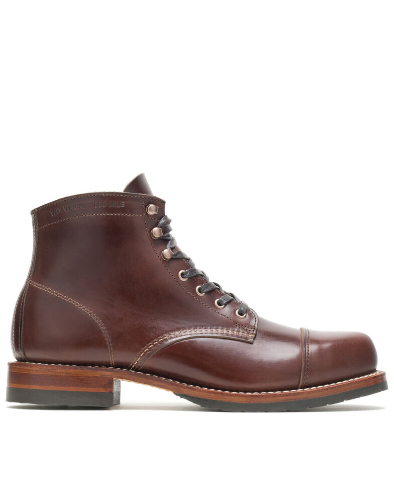 Wolverine Men's 1000 Mile Cap-Toe Work Boots - Soft Toe, Brown, hi-res