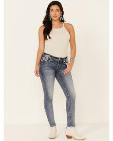 Miss Me Women's My Wings Hailey Skinny Jeans, Blue, hi-res