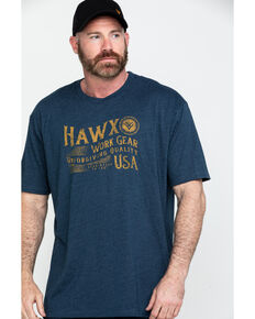 Hawx Men's Work Gear USA Graphic Work T-Shirt , Navy, hi-res