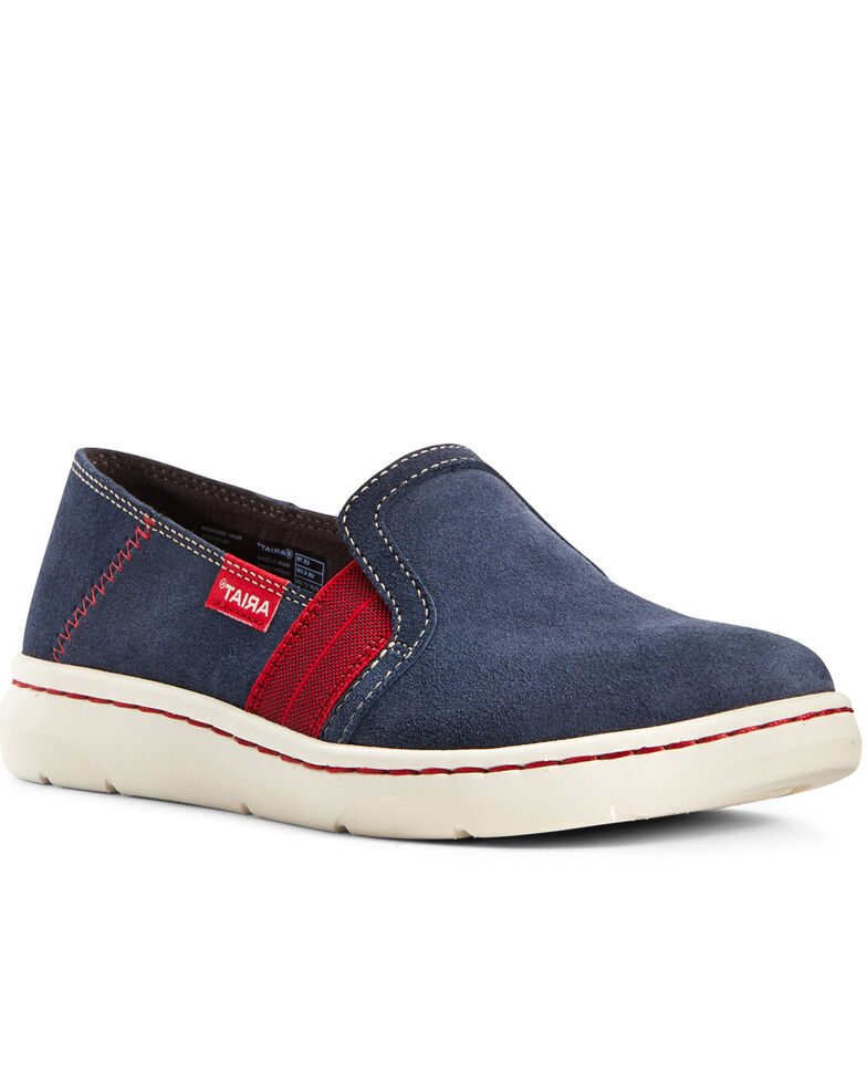 Ariat Women's Ryder Team Driving Shoes - Round Toe, Navy, hi-res